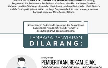 KPI: TV dan Radio Dilarang Siarkan Iklan Kampanye dan Hasil Survei di Masa Tenang