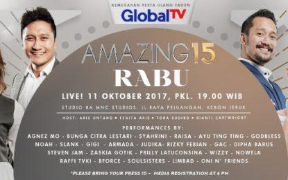 Menyambut HUT GlobalTV; Amazing 15