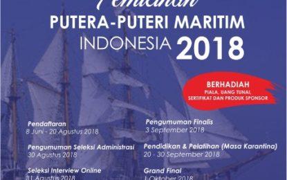 Yayasan putera Puteri Maritim Indonesia umumkan 66  Finalis Putera Puteri Maritim Indonesia Tahun 2018