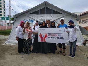 Penyerahan donasi oleh UNICEF berupa Temporary Learning Spaces (Ruang-ruang Kelas Darurat) ke perwakilan SDN Inpres 2 Talise, Kota Palu, Sulawesi Tengah