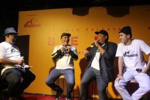 Rory Hardono selaku MC acara, Iwa K, Bona Palma, dan Mario Zwinkle
