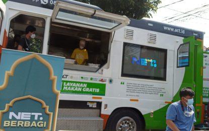 SINERGI NET & ACT dengan HUMANITY FOOD Truck: Bagikan 3000 Makanan untuk NAKES & Warga Terdampak Pandemi